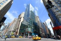 Manhattan genomskärning och skyskrapor Royaltyfri Bild