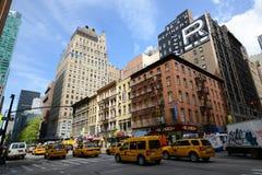 Manhattan genomskärning och skyskrapor Arkivbild
