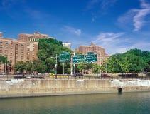 Manhattan. Harlem quay. Royalty Free Stock Photography