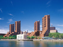 Manhattan. Harlem quay. Stock Image
