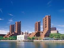 Manhattan. Harlem quay. Stock Image