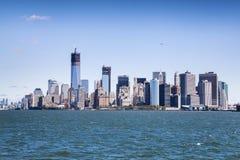 Manhattan - het financiële centrum van de wereld Royalty-vrije Stock Foto