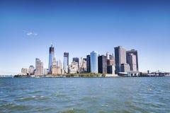 Manhattan - het financiële centrum van de wereld Royalty-vrije Stock Fotografie