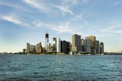 Manhattan - het financiële centrum van de wereld Royalty-vrije Stock Foto's