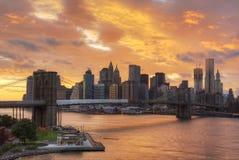 Manhattan horisont Royaltyfri Fotografi