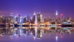 Manhattan horisont Arkivfoto