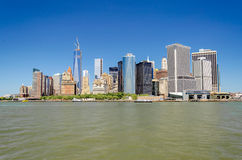 Manhattan horisont Royaltyfria Bilder