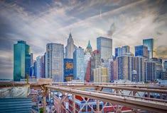 Manhattan horisont Royaltyfri Bild