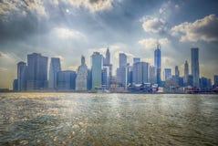 Manhattan horisont Royaltyfri Foto