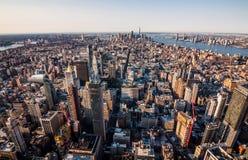 Manhattan horisont i New York royaltyfri foto