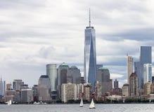 Manhattan horisont New York Royaltyfri Fotografi