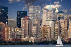 Manhattan horisont - New York City Royaltyfri Fotografi