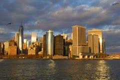 Manhattan horisont, New York City, USA Royaltyfri Bild