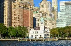Manhattan horisont, NYC, USA Royaltyfri Foto