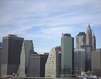 Manhattan horizon de van de binnenstad Stock Foto's