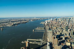 Manhattan- Hudson River Stock Image
