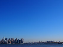 Manhattan i Brooklyn tło Zdjęcia Stock
