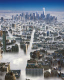 Manhattan i moln Arkivbilder