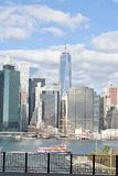 Manhattan i Wschodnia rzeka Fotografia Stock