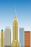 Manhattan  illustration. Manhattan cityscape flat  illustration Royalty Free Stock Photography