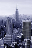Manhattan im Blau Stockbild