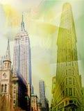 Manhattan im Stadtzentrum gelegen Lizenzfreies Stockbild