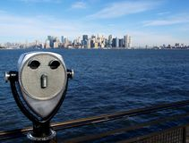 Manhattan Island from Liberty Island Stock Photos