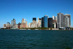 Manhattan Island, New York USA. New York Lower Manhattan and Financial District royalty free stock photos