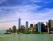 Manhattan. The Manhattan Island on a sunny day Royalty Free Stock Photo