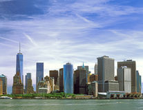 Manhattan. The Manhattan Island on a sunny day Royalty Free Stock Photography