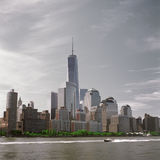 Manhattan. The Manhattan Island. View from the Hudson River Stock Image