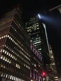 Manhattan la nuit Photo libre de droits