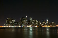 Manhattan Landscape. Night view Royalty Free Stock Image