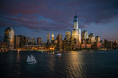 Manhattan landscape Royalty Free Stock Photo