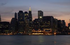 Manhattan-Leuchten Stockfotografie