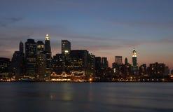 Manhattan-Leuchten Stockfoto