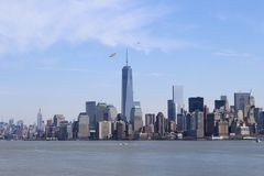 Manhattan From Liberty Island Royalty Free Stock Photo
