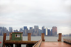 Manhattan from Liberty Island Stock Images