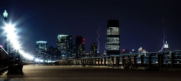 Manhattan lightning Stock Photo