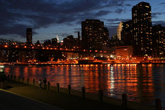 Manhattan lights royalty free stock images