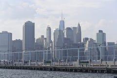 Manhattan linia horyzontu Zdjęcia Royalty Free