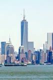Manhattan linia horyzontu Fotografia Royalty Free