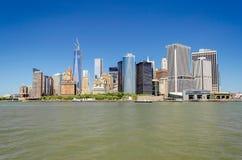 Manhattan linia horyzontu Obrazy Royalty Free