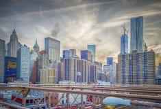 Manhattan linia horyzontu Zdjęcie Stock