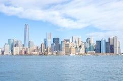 Manhattan linia horyzontu Zdjęcia Stock
