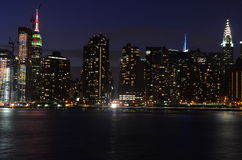 Manhattan linia horyzontu, Miasto Nowy Jork, usa Fotografia Royalty Free