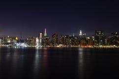 Manhattan linia horyzontu, Miasto Nowy Jork, usa Obrazy Royalty Free