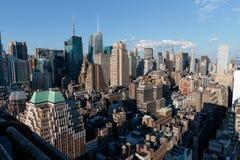 Manhattan linia horyzontu od nowojorczyka hotelu, Manhattan Fotografia Royalty Free
