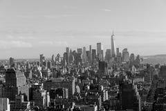 Manhattan linia horyzontu od nowojorczyka hotelu, Manhattan Obrazy Stock
