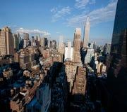 Manhattan linia horyzontu od nowojorczyka hotelu, Manhattan Zdjęcia Royalty Free
